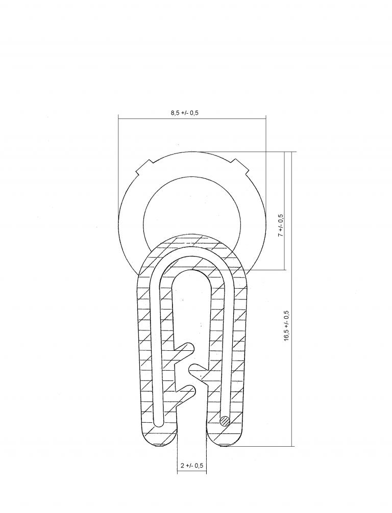 Guarnizione Guisnap B2201 - Bulbo Superiore - Baule