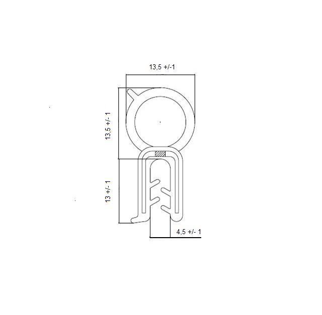 Guarnizione Guisnap BS2601 - Bulbo Superiore - Baule