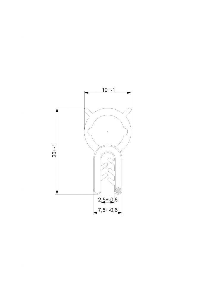 Guarnizione Guisnap BS2604 - Bulbo Superiore - Baule