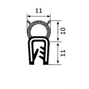 Guarnizione Guisnap CS029 - Bulbo Superiore - Baule