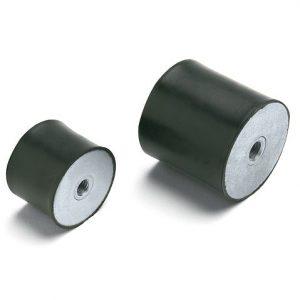 Antivibranti cilindrici in acciaio zincato femmina-femmina
