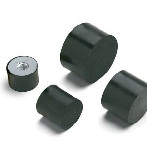 Antivibranti cilindrici in acciaio zincato-piedino femmina