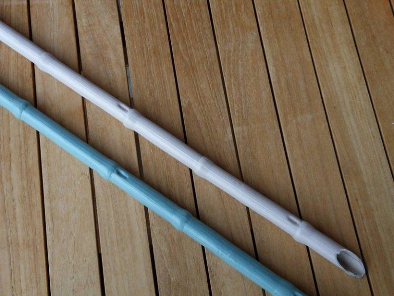canna in pvc diametro 18 con nodo senza rinforzo