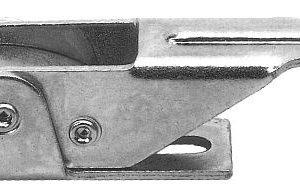Chiusura a leva 128,5 mm con gancio in acciaio