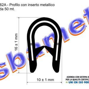 profilo armato a U in pvc con inserto metallico e goffratura PA10162AMO